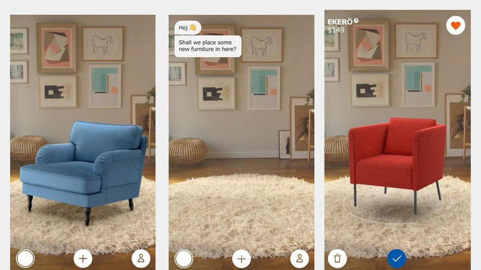 Image showing AR app available to download for Ikea furniture purchasing