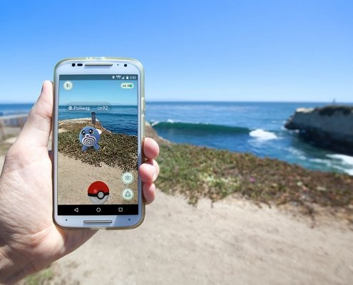 Image showing someone using Pokemon Go VR
