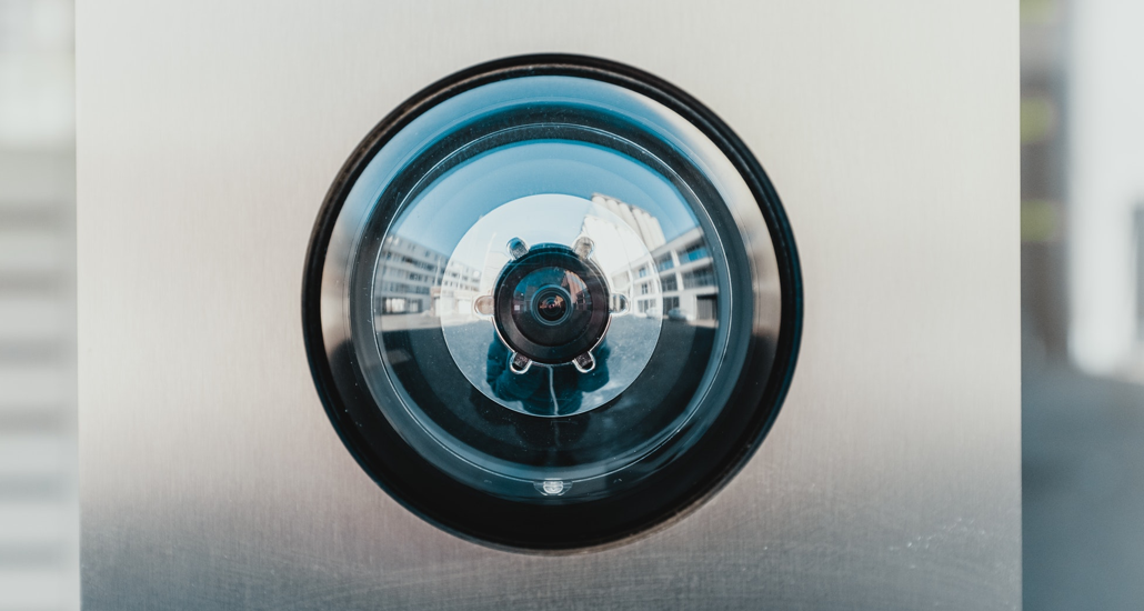 Image showing close up of a security camera