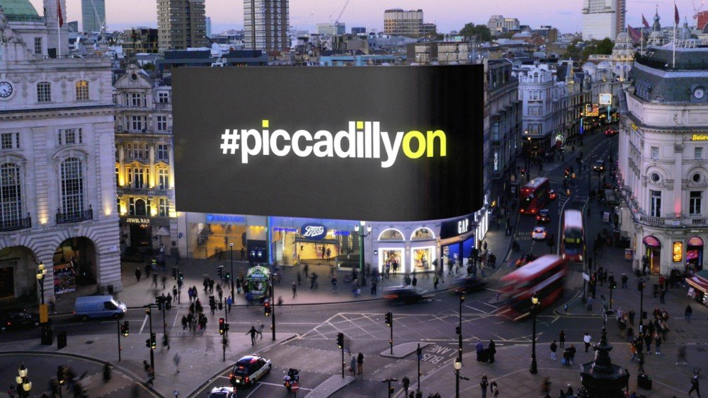 Piccadilly Lights Digital OOH Billboard